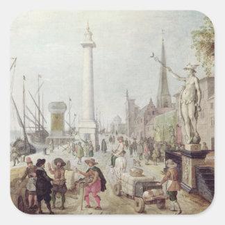 アントワープの古代港 スクエアシール