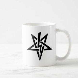 アントン二重黒いSzandor LaVey Sigilのマグ コーヒーマグカップ