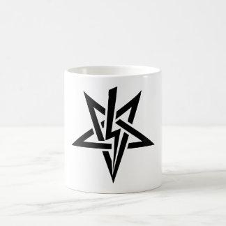 アントン独身ので黒いSzandor LaVey Sigilのマグ コーヒーマグカップ