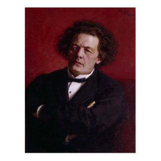 アントンGrigoryevich Rubinstein 1881年のポートレート ポストカード