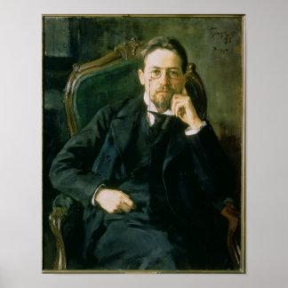 アントンPavlovichチェコフ1898年のポートレート ポスター