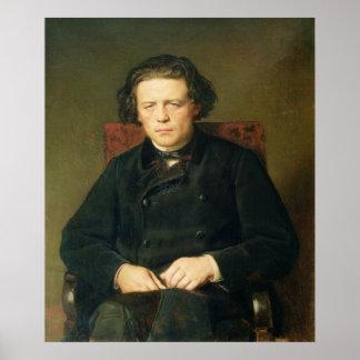 アントンRubinstein 1870年のポートレート ポスター
