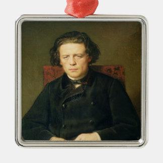 アントンRubinstein 1870年のポートレート メタルオーナメント
