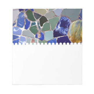 アントーニGaudiの青のモザイク ノートパッド