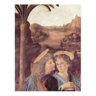 アンドリアdel Verrocchio Die Taufe Christiの詳細: E ポストカード