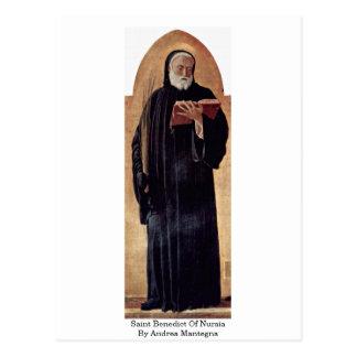 アンドリアMantegna著Nursiaの聖者ベネディクト ポストカード
