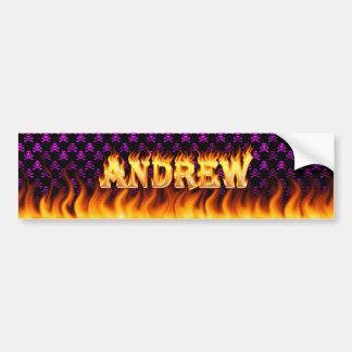 アンドリューの実質火および炎のバンパーステッカーは設計します バンパーステッカー