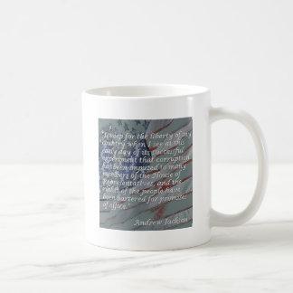 アンドリュー・ジャクソンの引用文-私は自由のために…泣きます コーヒーマグカップ