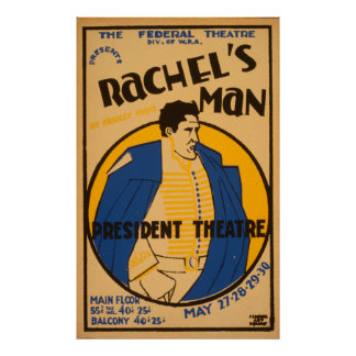 アンドリュー・ジャクソンの戯曲1937 WPAヴィンテージポスター プリント