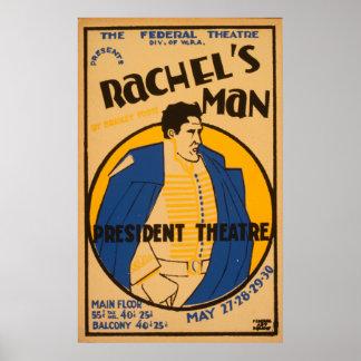 アンドリュー・ジャクソンの戯曲1937 WPAヴィンテージポスター ポスター