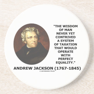 アンドリュー・ジャクソンの知恵は課税平等を考案します コースター