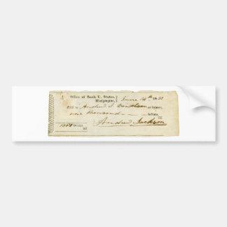 アンドリュー・ジャクソンは1831年6月14日からの点検に署名しました バンパーステッカー