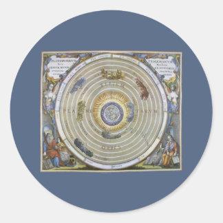 アンドレアスCellarius著ヴィンテージのPtolemaic Planisphere ラウンドシール