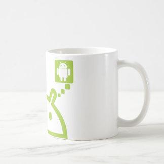アンドロイドを考えて下さい コーヒーマグカップ