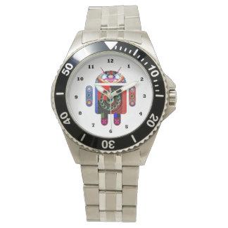 アンドロイド   :    多数の革紐の選択 腕時計