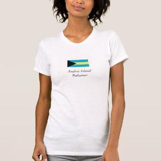 アンドロスの島、バハマの旗 Tシャツ