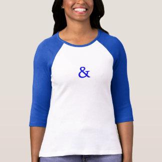 アンパーサンドのデザインのカジュアルなTシャツ Tシャツ