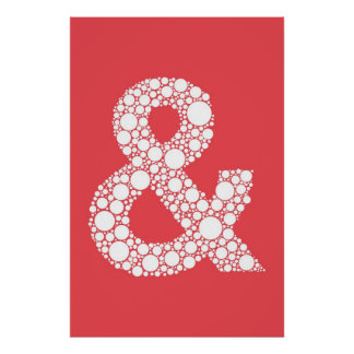 アンパーサンドポスター(および記号)スイカの赤 ポスター