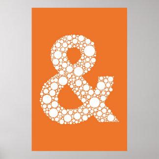 アンパーサンド(および記号)泡タイプポスター ポスター