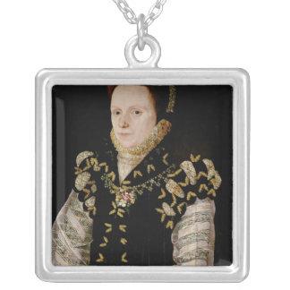 アンラッセルのWarwick、c.1565の伯爵婦人 シルバープレートネックレス