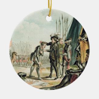 アンリーはII Kとして(1519-59年)ジーンde Tavanesを受け取ります セラミックオーナメント