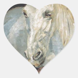 アンリーdeツールーズLautrec著白馬「ガゼル」 ハートシール