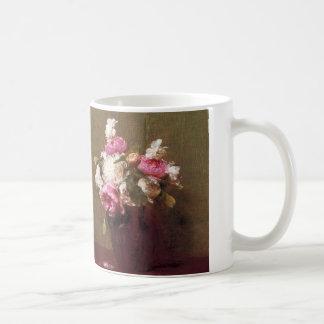アンリーFantin-Latourのシャクヤクおよびバラのマグ コーヒーマグカップ