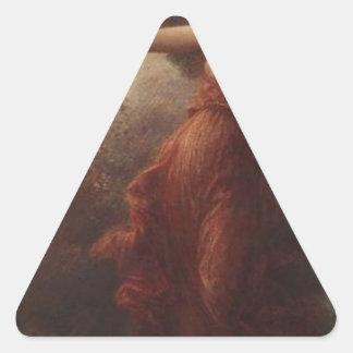 アンリーFantin-Latour著不滅 三角形シール