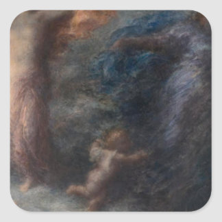 アンリーFantin-Latour著夜明けそして夜 スクエアシール