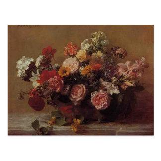 アンリーFantin-Latour-の花 ポストカード