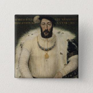 アンリーIIのフランス1555年の王 5.1CM 正方形バッジ