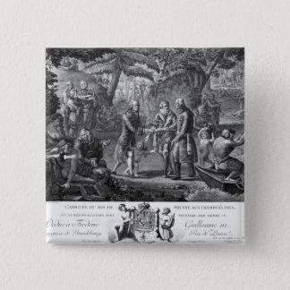 アンリーIV和解のFrederickウィリアムII 5.1cm 正方形バッジ