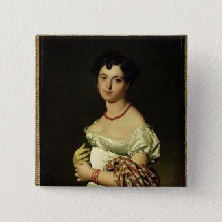 アンリーPhilippeヨセフPanckouke 1811年夫人 5.1cm 正方形バッジ