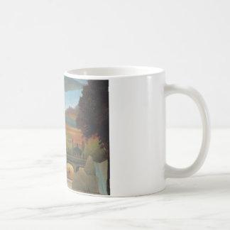 アンリーRous著日没のセーヌ河およびエッフェル塔 コーヒーマグカップ