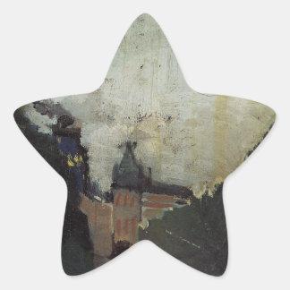 アンリーRousse著Palais du Metropolitanの眺め 星シール