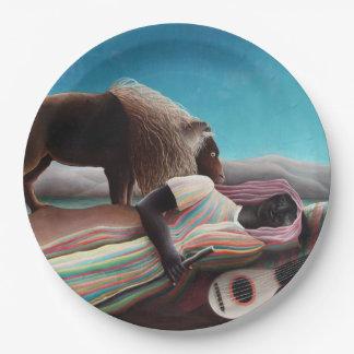 アンリ・ルソー睡眠のジプシーのヴィンテージ ペーパープレート