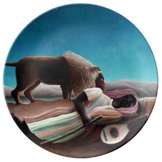 アンリ・ルソー睡眠のジプシーのヴィンテージ 磁器プレート