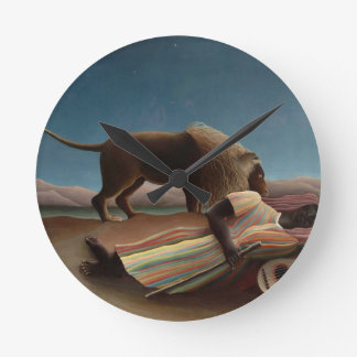 アンリ・ルソー睡眠のジプシー ラウンド壁時計