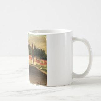 アンリ・ルソー著工場の近くの村 コーヒーマグカップ