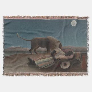 アンリ・ルソー著睡眠のジプシー スローブランケット