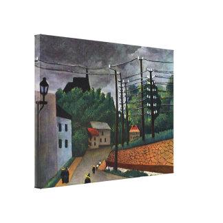 アンリ・ルソー著Malakoffの眺め、ヴィンテージの芸術 キャンバスプリント