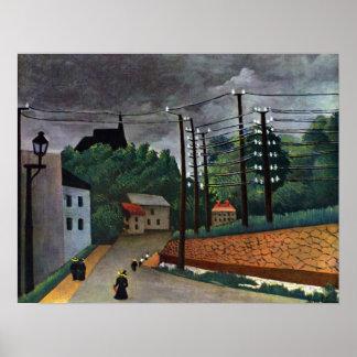 アンリ・ルソー著Malakoffの眺め、ヴィンテージの芸術 ポスター