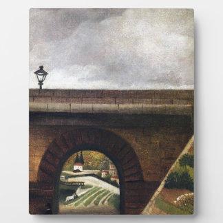 アンリ・ルソー著Sevres橋 フォトプラーク