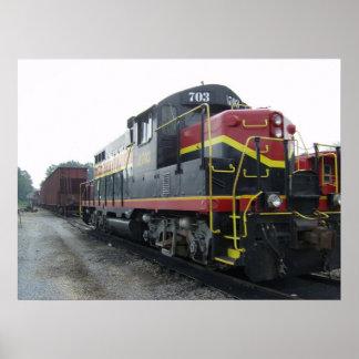 アーカンソーおよび内陸部の鉄道機関車 ポスター