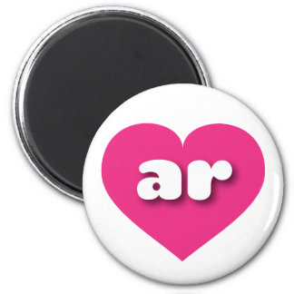 アーカンソーのショッキングピンクのハート-小型愛 マグネット
