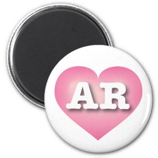アーカンソーのピンクはハート-大きい愛衰退します マグネット
