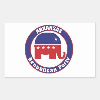 アーカンソーの共和党 長方形シール