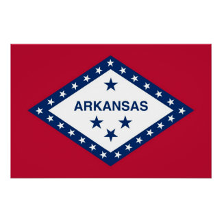 アーカンソーの国家の旗が付いている愛国心が強い壁ポスター ポスター