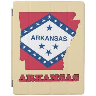 アーカンソーの地図の旗 iPadスマートカバー
