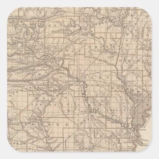 アーカンソーの地図書の地図 スクエアシール